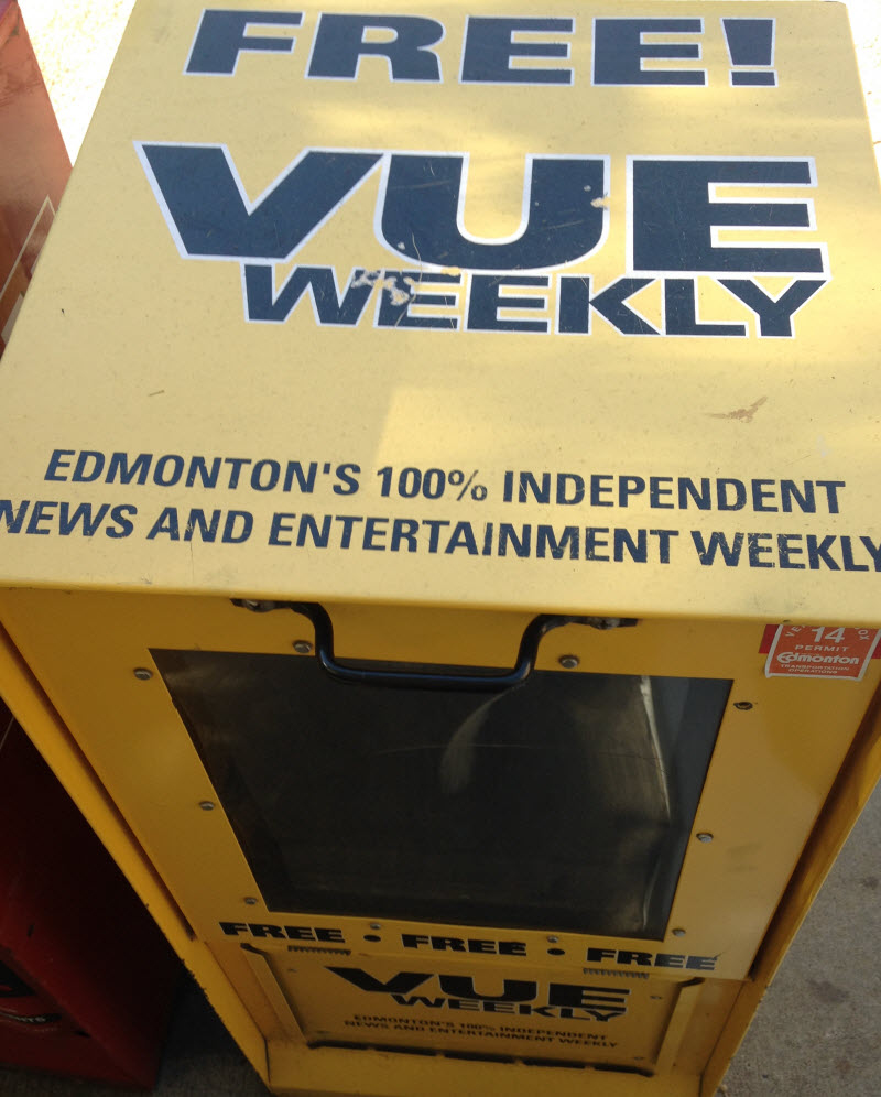 Breaking News: I'm the new Dish editor for Vue Weekly!